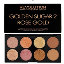 Makeup Revolution Ultra Blush Palette - Golden Sugar 2 Rose Gold V4