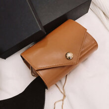 [LESHP]Fashion Woman Chain Strap Crossbody Bag PU Leather Small Flap Shoulder Black