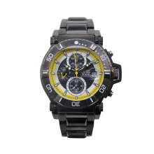 ALBA Jam Tangan Pria - Black White Yellow - Stainless Steel - AF3C95X