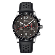 Mido M025.627.16.061.00 Multifort Chronograph Automatic Grey Dial Black Leather Strap [M025.627.16.061.00]
