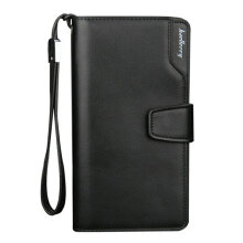 TOWER PRO Soft PU Leather Men Long Wallet Korean Version Male Clutch Bag Black