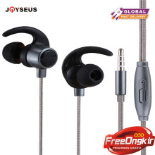 JOYSEUS 3.5mm Wired Earphone Stereo Headset In-Ear With Mic Earbuds For Xiomi Xaomi Iphone Xiaomi Mobile Phone MP3 PC Gaming Aur Black
