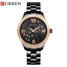 CURREN 9009 Watch Women Ladies Quartz Watches Crystal Design Wristwatch