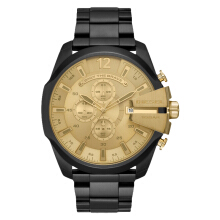Diesel DZ4485 Mega Chief Men Gold Dial Black Stainless Steel [DZ4485]