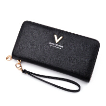 YOOHUI PQ12 High quality ladies leather wallet long zipper wallet card holder clutch