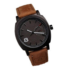Farfi New Men Military Wrist Watch Faux Leather Strap Sport Quartz Analog Watch as the pictures