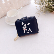 Keness 1602 Short Ladies Wallet 2018 New Print Cute Puppy Coin Purse zipper Multi-card Wallet