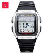 Casio W-96H-1A Sports waterproof electronic watch-Black&Silver