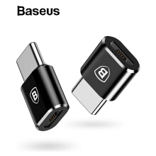 Baseus Micro USB Type C OTG Adapter Type-C Male to Micro USB Female Charger Plug Adapter Converter - Black Type-C Male to Micro USB Female