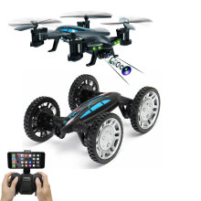 K20W Air-Road Double Model 2 in 1 Flying Cars 2.4G 4CH RC Car Toys With Camera Wifi Transfer Multicolor