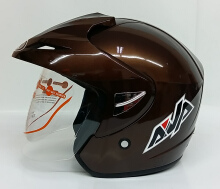 AVA Cruiser Helm Half Face - Brown L Dark Brown L