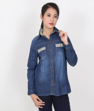 ADORE Kemeje Jean Blue All Size