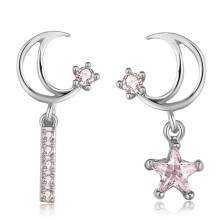 murtoo Women's Silver Needle Star Earring White