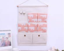 RADYSA Pouch Gantung 7 Sekat - Pink Bear Pink Others
