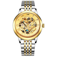 DEFFRUN DM0001 Roman Number 3D Dial Case Men Watch Stainless Steel Strap Automatic Mechanical Watch Multicolor