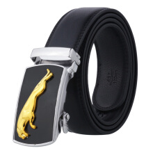 Dandali Original imported wild PU leather automatic buckle men's belt Black