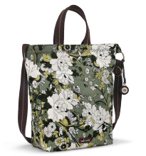 Sakroots Campus Tote Sling Bag Olive Flower Power