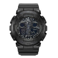 Casio G-SHOCK GA-100CF-1A Sports waterproof electronic watch-Black