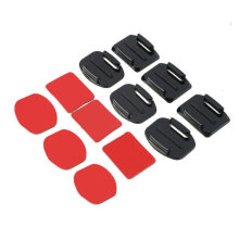[COZIME] 12Pcs Helmet Accessories Flat Curved Adhesive Mount For Gopro Hero 1/2/3 /3+ Black