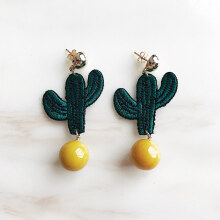 VASELLA OFFICIAL Earrings Cactus Charm - Green