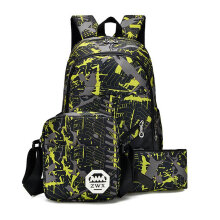 [COZIME] 3PCS/SET Fashionable Men Women Waterproof Oxford Fabric Backpack Rucksack Others1