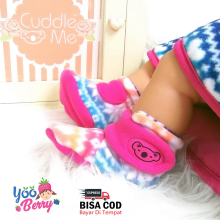 Cuddle Me Sepatu Prewalker Bayi Fitted Booties Scandinavian Pink CME007M