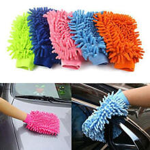 Farfi Super Microfiber Car Truch Wash Washing Single Sided Anti-Scratch Cleaning Glove as the pictures
