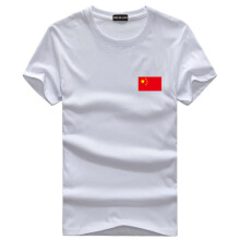 Ta To 2019 New Korea Style Summer T Shirts Mens  Cotton Fashion Print China Flag T Shirt Round Neck Plus Size 5XL Mans Short Sle