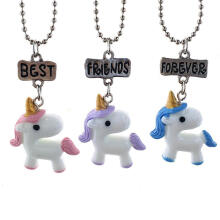 Farfi 3Pcs Kids Boy's Girl's Best Friend Letter Chain Necklace Pendant Dangle Gift as the pictures