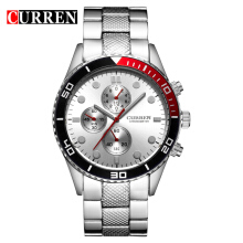 CURREN 8028 Men's Quartz Watch Stainless Steel Wristwatches