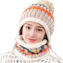 SiYing sweet and lovely winter warm neck women's knit hat