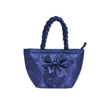 Naraya Satin Quilted with Ribbon Electric Blue