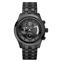 Guess Capitol Chronograph U17526G1 Black Dial Black Stainless Steel Strap [U17526G1]