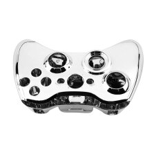 Full Case Cover Protect Shell Skin Button Set For Xbox 360 Wireless Controller Silver