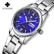 WWOOR Brand Ladies Watch Women Luxury Fashion Casual Quartz Watch Waterproof Luminous Bracelet Women Watches Relogio Feminino