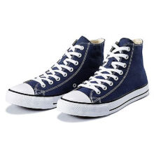 Vancl Classic Hi canvas shoes-Navy Blue