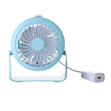 Portable USB Rechargeable Cooling Fan Misting Spray Air Cooler For Home Office Blue