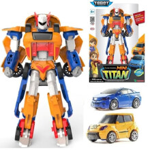 Tobot Mini Titan 2 Cars Combine Original - Young Toys - Orange