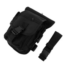 [kingstore]Outdoor Tactical Military Drop Leg Bag Panel Utility Waist Belt Pouch Black