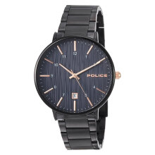 Police Polaris PL.15303JSB/03M Men Blue Dial Black Stainless Steel Watch [PL.15303JSB/03M]
