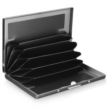[COZIME] Stainless Steel Thickened Anti-magnetic Credit Business Card Portable Holder