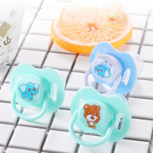 toko diskon Baby Newborn Food Grade Silicone Nipple Soother Pacifier Infant Orthodontic Dummy Teether random color