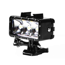 Universal LED Fill Waterproof Sports Camera Underwater Lamp  - Black