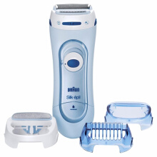 Braun Silk-epil LS5160 Lady Shaver - Wet & Dry Cordless Electric Hair Removal Razor and Bikini Trimmer for Women