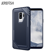 JEREFISH Samsung Galaxy S9 Plus Shockproof Phone Case Rugged Hybrid Hard PC Soft Silicone Full Body Protective Phone Cover