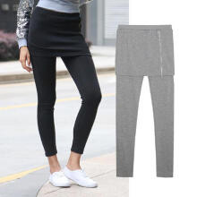 Women Casual Wild Slim Fit Leggings Skirt Two Piece One Piece Leggings_XXL