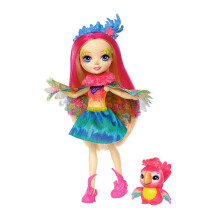 ENCHANTIMALS Peetri Parrot and Sheeny doll FNH23