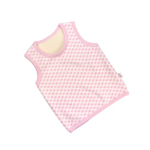 SiYing cartoon children's double warm vest baby pink plus velvet vest