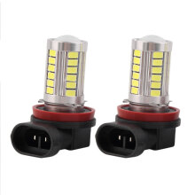 [COZIME] H11 Super Bright 5630 SMD 33-LED Auto Car White Fog Lamp Light Bulb Driving Others