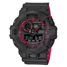 Casio G-SHOCK GA-700SE-1A4 Sports waterproof electronic watch-Black&Red